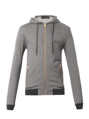 Cashmere-blend hooded sweatshirt
