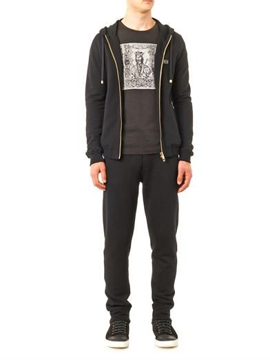 Dolce & Gabbana Cotton and cashmere-blend track pants