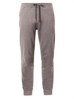 Cotton and cashmere-blend sweatpants