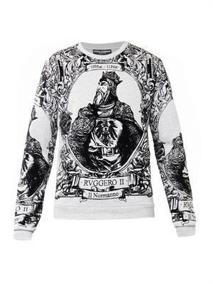 Ruggero II-print sweatshirt