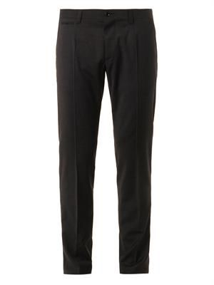 Tailored wool-blend trousers