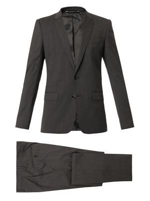 Martini-fit three-piece suit