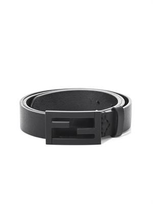 FF buckle leather belt