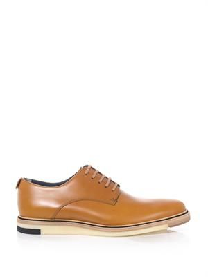 High-shine leather lace-up shoes