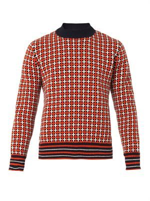 Grid-check sweater