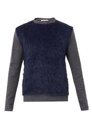 Contrast-body bi-colour sweatshirt
