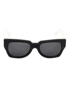 Bi-colour square sunglasses