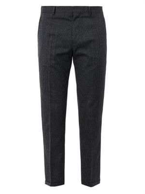Micro-tweed cropped trousers