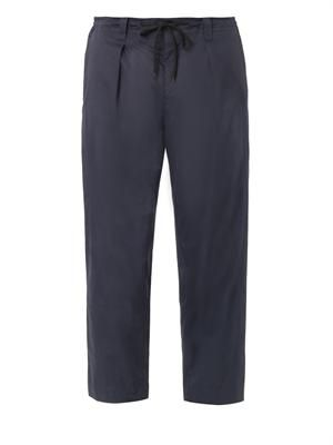 Cotton-gabardine trousers