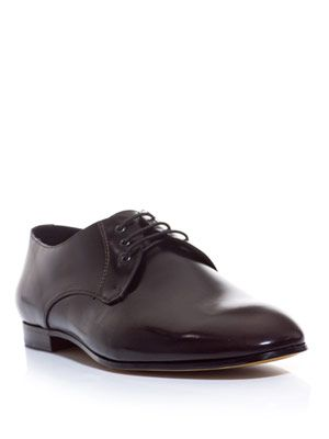 Burnished lace-up shoes