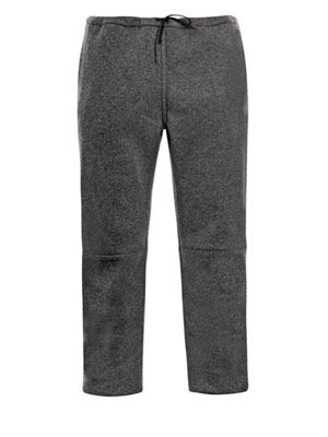 Articulated-knee wool-jersey trousers
