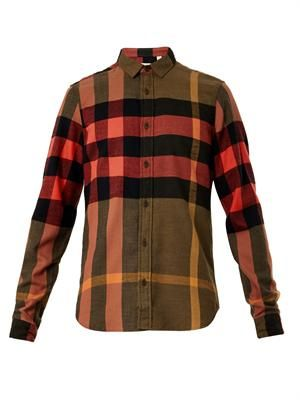 Holmes exploded check cotton shirt
