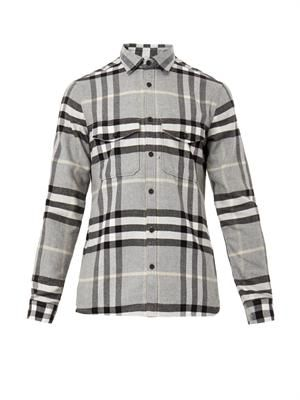 Bartley checked flannel shirt