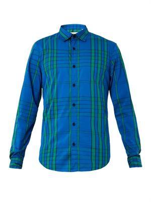 Willbourne graphic-check cotton shirt