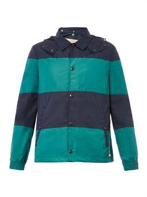 Bursford bi-colour hooded jacket