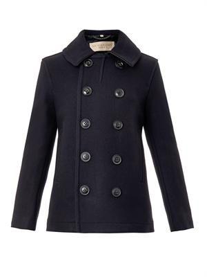Woolson wool-blend  pea coat