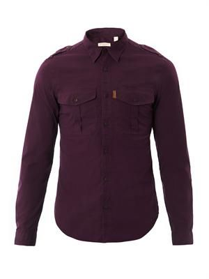 Chest pocket cotton shirt