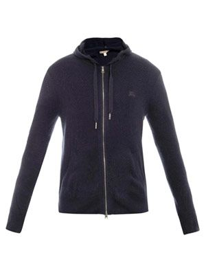 Cashmere zipped sweat top