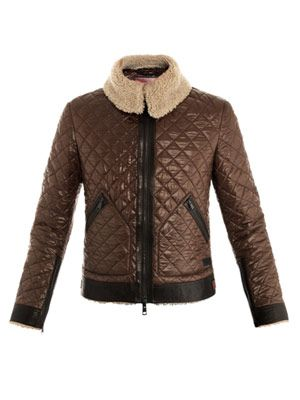 Quilted aviator jacket