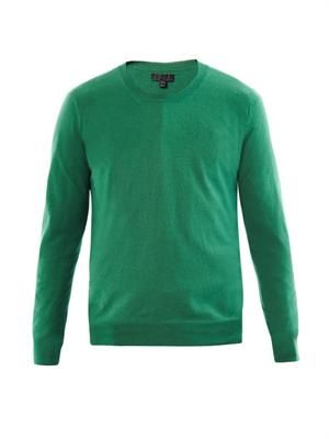 Crew-neck wool-knit sweater