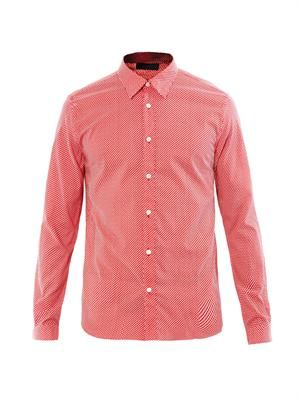 Micro dot-print cotton shirt