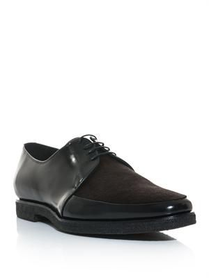 Rictchson pony hair and leather derby shoes
