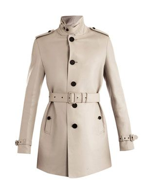 Bonded leather trench coat