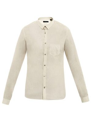 Micro stripe slim shirt