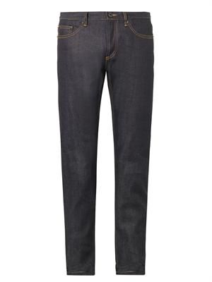 Raw-denim skinny jeans