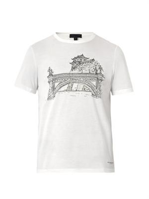 Tokyo landscape-print T-shirt