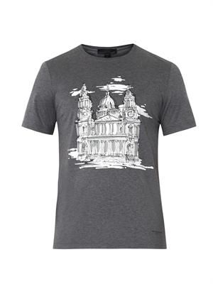 St Paul's-print cotton T-shirt