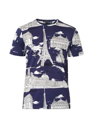 Landmark-print cotton T-shirt