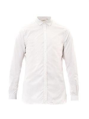 Halesforth micro-check shirt