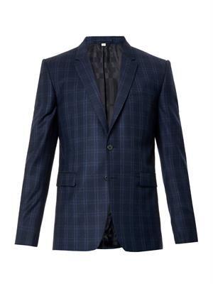 Stirling checked wool blazer