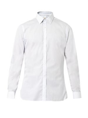 Tybury polka-dot cotton shirt