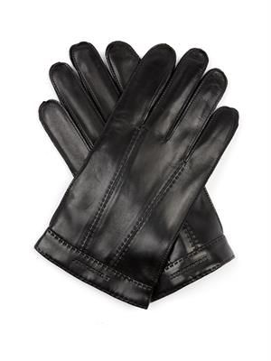 Tech-touch leather gloves