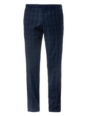 Stirling checked wool trousers