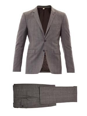 Stirling check wool suit