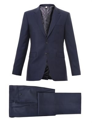 Two-button mohair and wool-blend suit