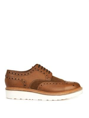 Archie leather and suede brogues