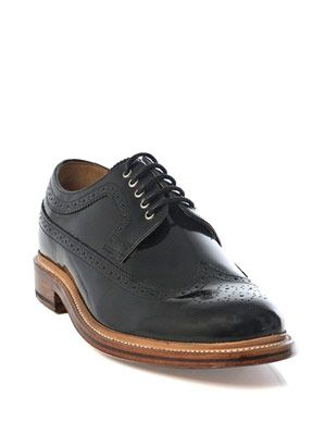 Sid high-shine brogue shoes