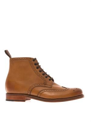 Sharp leather brogue boots