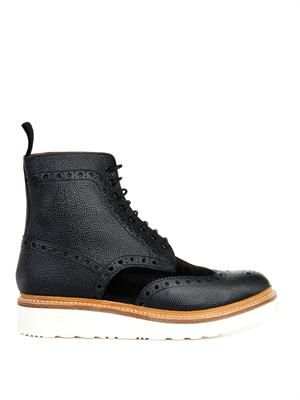 Fred leather and suede brogue boots