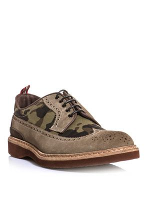 Camo and suede brogues