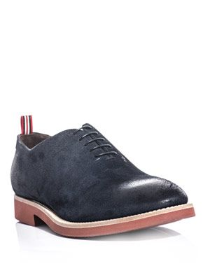 Oiled toe suede shoes