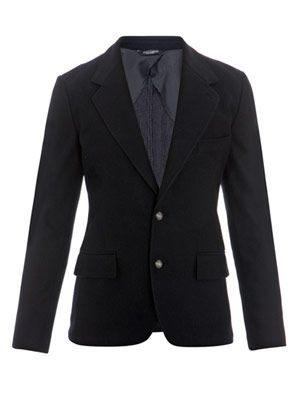 Unstructured stretch blazer