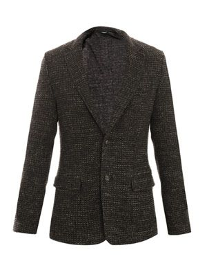 Flecked raw-edge jacket