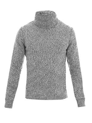 Flecked roll-neck sweater