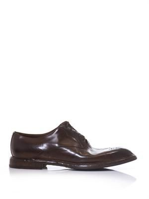 Brushed leather Oxford brogues