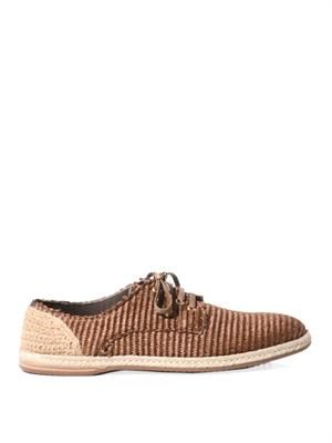 Modello woven-raffia shoes